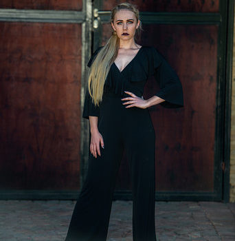 Fluidity | Wrap Jumpsuit / Black