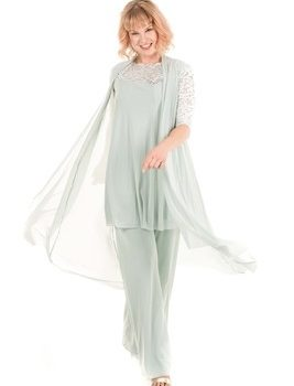 Jacoba | Ann Pants Suit -Duck Egg