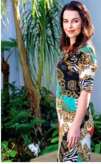 Frock 'n Roll | Mandarin Dress-Black/Green/Gold