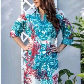 Frock 'n Roll   Tassel Tunic /Turquoise&Coral