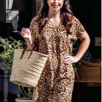 Frock 'n Roll | Shift Dress - Leopard Print