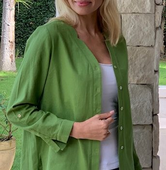 Iconic Designs -Linen Jacket -Lime Green