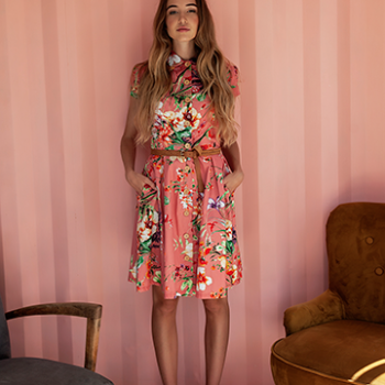 Glare Modern Vintage - Lilly Dress /Pink Floral