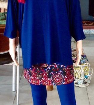 Donnabella   Mini Skirt - (black,wine,blue paisley)