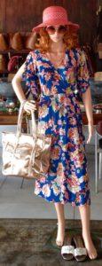 Iconic Designs   Rayon Wrap Dress - (Turquoise Paisley )